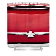 1965 Ford Thunderbird Emblem Shower Curtain