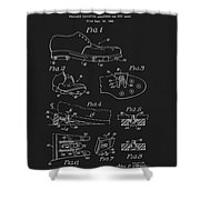 1965 Golf Shoes Patent Shower Curtain
