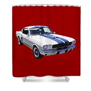 1965 Gt350 Mustang Muscle Car Shower Curtain