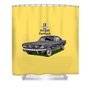 Mustang Fastback 1965 Shower Curtain