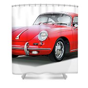 1965 Porshe 356 Sc Coupe Shower Curtain