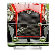 1966 Alfa Romeo Quattro Route 4r Grille Shower Curtain
