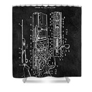 1966 Bolt Action Rifle Patent Shower Curtain