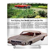 1966 Chevrolet Chevelle Turbo-jet V8's Shower Curtain