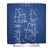 1966 Exercising Device Patent Spbb05_bp Shower Curtain