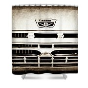 1966 Ford F100 Pickup Truck Grille Emblem -113s Shower Curtain