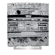 1966 Ford F100 Sketch Shower Curtain