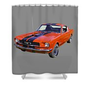1966 Ford Mustang Fastback Shower Curtain