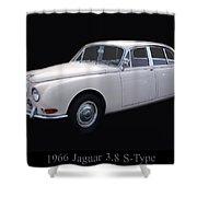 1966 Jaguar 3.8 S Type Shower Curtain