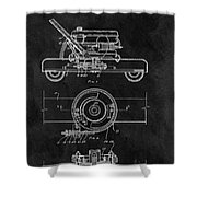 1966 Lawn Mower Patent Image Shower Curtain
