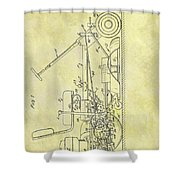 1966 Riding Mower Patent Shower Curtain