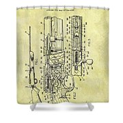 1966 Rifle Patent Shower Curtain