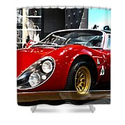 1967  33 Straddle Alpha Romeo Shower Curtain