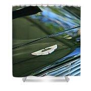 1967 Aston Martin Db6 Coupe Hood Emblem Shower Curtain