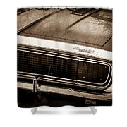 1967 Chevrolet Camaro Ss350 Convertible Grille Emblem -0704s Shower Curtain