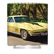 1967 Chevrolet Corvette Sport Coupe Shower Curtain