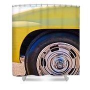 1967 Chevrolet Corvette Sport Coupe Rear Wheel Shower Curtain