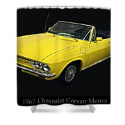 1967 Chevy Corvair Monza Shower Curtain