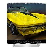 1967 Chevy Corvette Convertible Shower Curtain