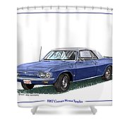 1967 Corvair Monza Spyder Shower Curtain