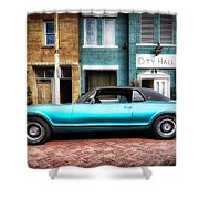 1967 Cougar Gt _hdr Shower Curtain