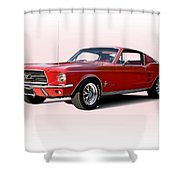 1967 Ford Mustang Fastback Shower Curtain