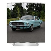 1967 Ford Mustang Watts Shower Curtain