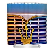1967 Maserati Sebring Coupe Emblem Shower Curtain