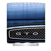 1967 Pontiac Gto Grille Emblem Shower Curtain