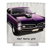 1967 Purple Pontiac Gto Shower Curtain