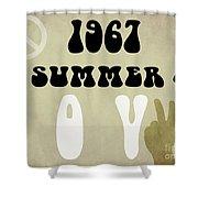 1967 Summer Of Love Newspaper Shower Curtain
