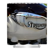 1967 Triumph Gas Tank 2 Shower Curtain