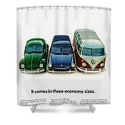 1967 Volkswagen Beetle Squareback And The Box Shower Curtain