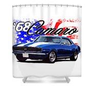 1968 Camaro Stars And Stripes Shower Curtain