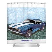 1968 Chevrolet Camaro Z 28 Shower Curtain
