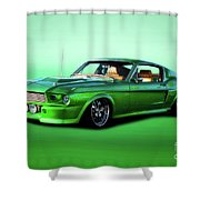 1968 Ford Mustang Fastback II Shower Curtain