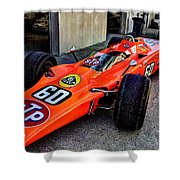 1968 Lotus 56 Turbine Indy Car #60 Angle Shower Curtain