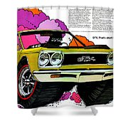 1968 Plymouth Gtx - Adios Shower Curtain