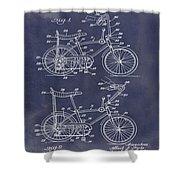 1968 Schwinn Stingray Patent In Blueprint Shower Curtain