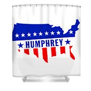 1968 Vote Humphrey For President Shower Curtain
