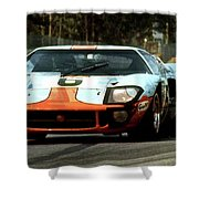 1969 24 Hours Of Le Mans Ford Gt40 First Place, Mixed Media  Shower Curtain