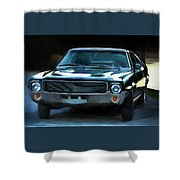 1969 Amx In Racing Green Shower Curtain