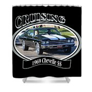 1969 Chevelle Ss Nuckolls Shower Curtain