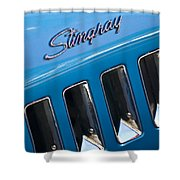 1969 Chevrolet Corvette Stingray Emblem Shower Curtain