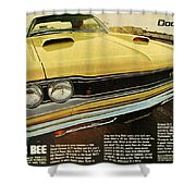 1969 Dodge Coronet Super Bee Shower Curtain