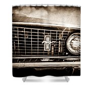 1969 Ford Mustang Grille Emblem -0129s Shower Curtain