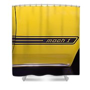 1969 Ford Mustang Mach 1 Logo Shower Curtain