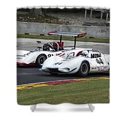 1969 Lola T163 And 1965 Wolverine Road America Shower Curtain