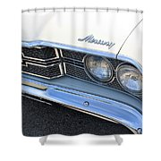 1969 Mercury Montego Mx Grille With Headlights And Logos Shower Curtain