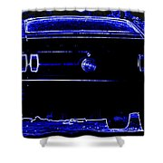 1969 Mustang In Neon 2 Shower Curtain